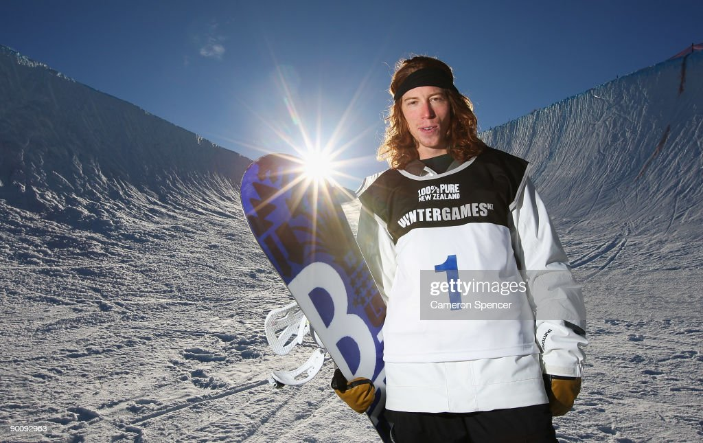 Shaun White of the United States of America poses after winning the Men's Snowboard Halfpipe final during day five of the Winter Games NZ at Cardrona...