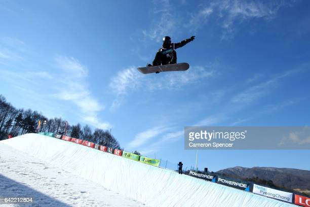 Shaun White of USA competes in the FIS Freestyle World Cup Snowboard Halfpipe Qualification at Bokwang Snow Park on February 17 2017 in...
