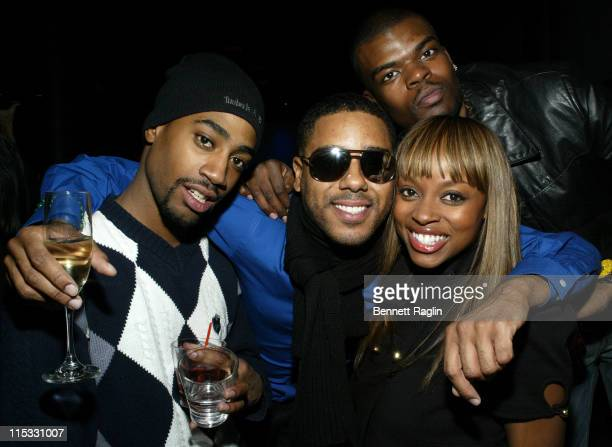 Shaun Williams BJ Coleman and Keesha Johnson during Def Jam Interactive and Electronic Arts Celebrate the Release of 'Def Jam ICON' at Ultra in New...