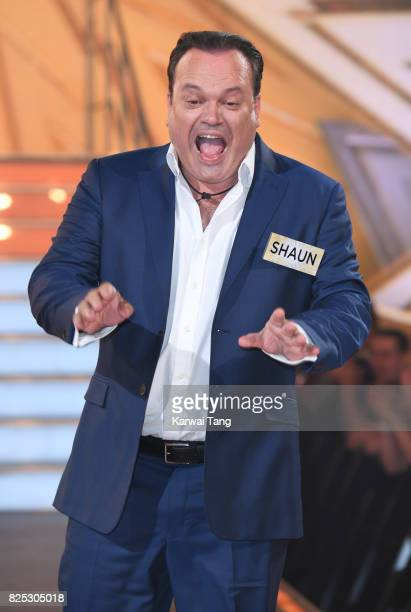 Shaun Williamson enters the Big Brother House for the Celebrity Big Brother launch at Elstree Studios on August 1 2017 in Borehamwood England