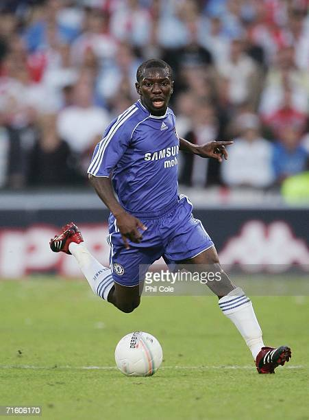 Shaun Wright Phillips in action during a preseason friendly match between Feyenoord and Chelsea at Feijenoord stadium in Rotterdam on August 8 2006...