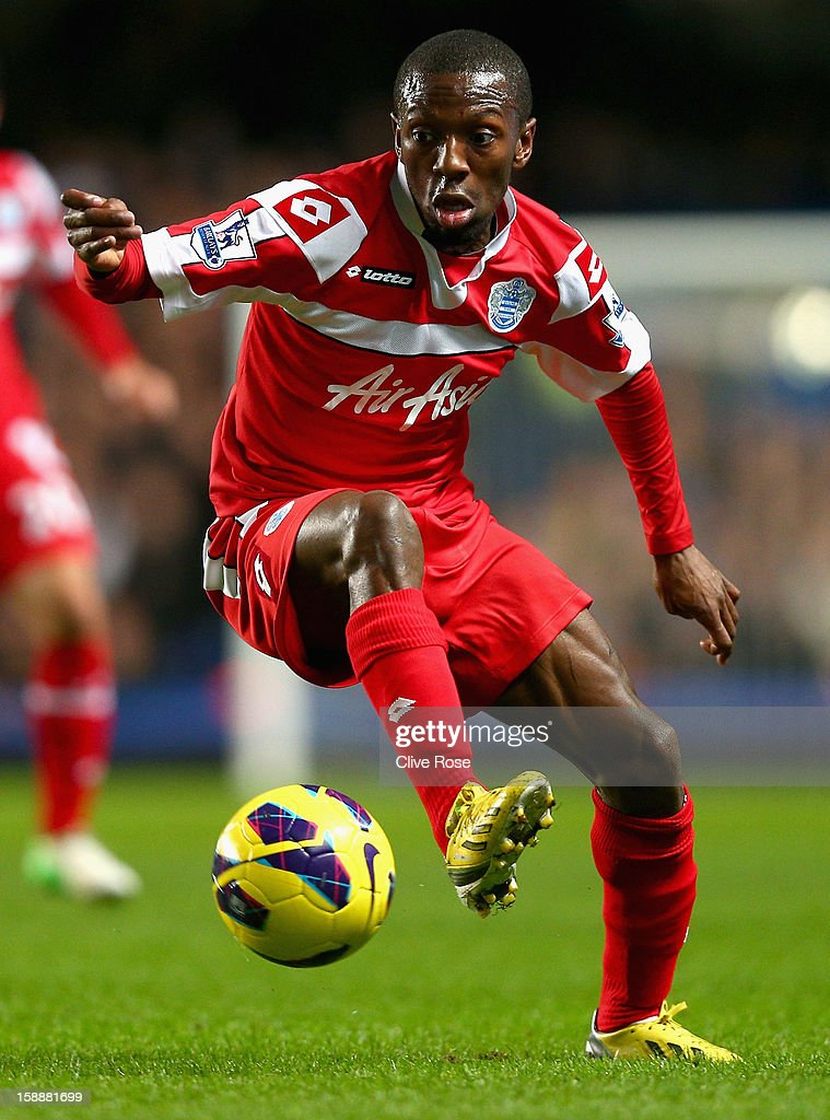 Shaun Wright Phillips of Queens Park Rangers with the ball during the Barclays Premier League match between Chelsea and Queens Park Rangers at...