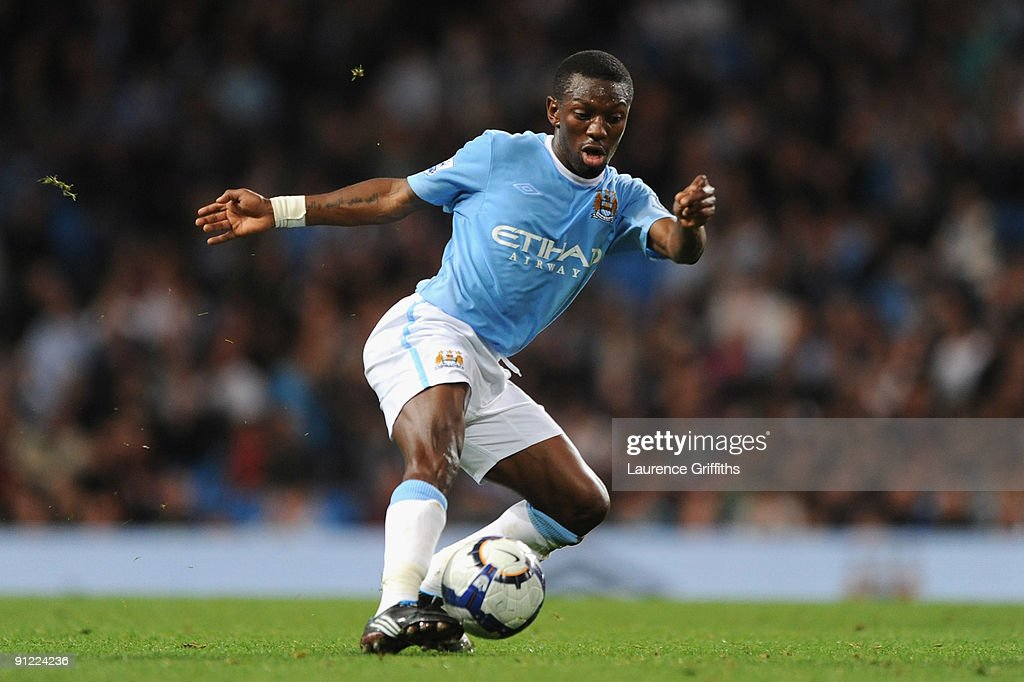 Shaun WrightPhillips of Manchester City in action during the Barclays Premier League match between Manchester City and West Ham United at the City of...