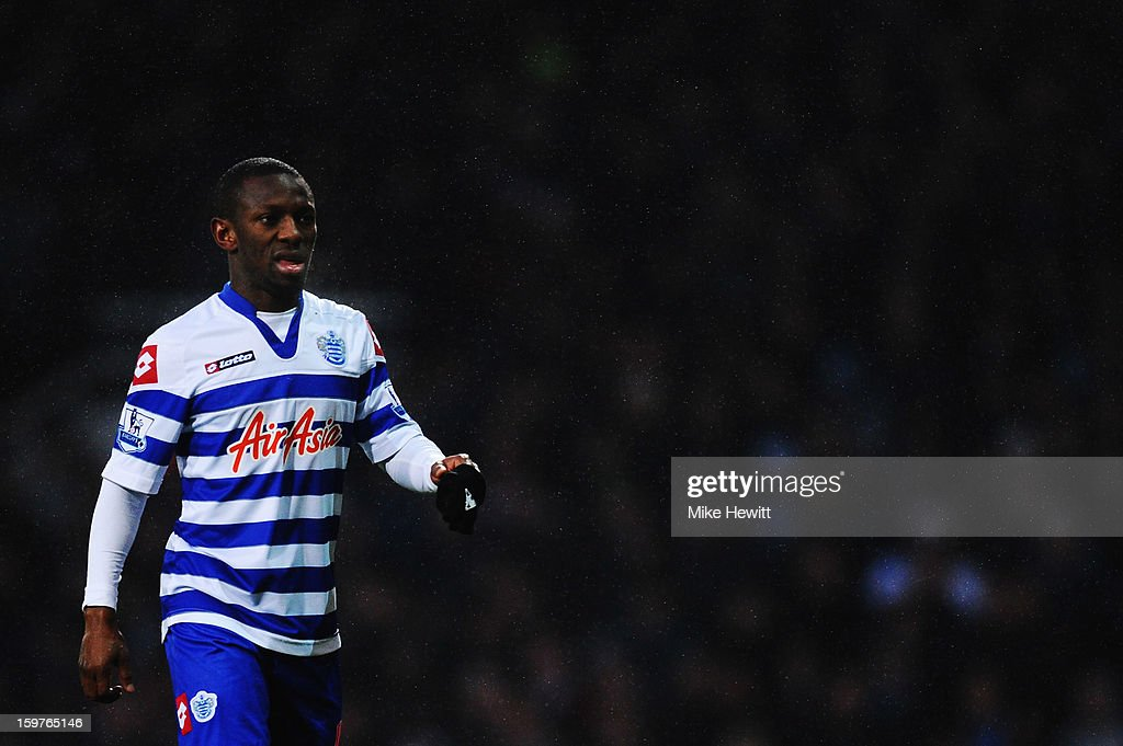 Shaun WrightPhillips of Queens Park Rangers in action during the Barclays Premier League match between West Ham United and Queens Park Rangers at...