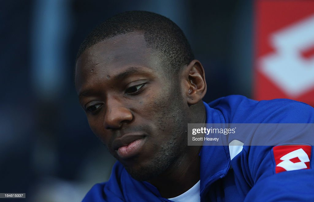 Shaun WrightPhillips of Queens Park Rangers looks on prior to the Barclays Premier League match between Queens Park Rangers and Everton at Loftus...