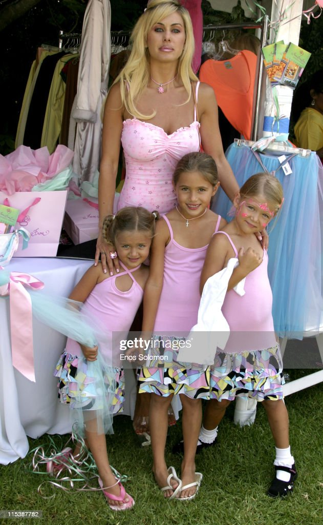 Shauna Sand and daughters during W Hollywood Yard Sale Presented by W Magazine and Guess to Benefit Clothes Off Our Back in Brentwood, California, United States.