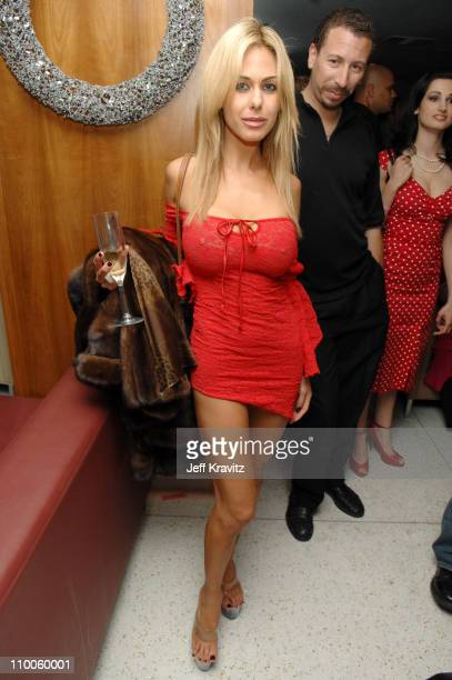 Shauna Sand during 1st Annual Benchwarmer Trading Cards' Holiday Party and Toy Drive at Area in Los Angeles California United States