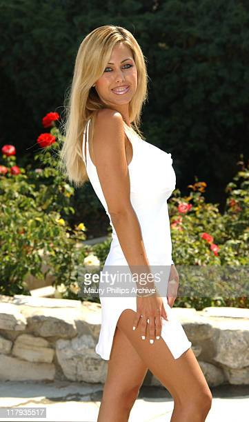 Shauna Sand during Sugar Ray Leonard Presents World Class Boxing From The Playboy Mansion at The Playboy Mansion in Hombly Hills California United...