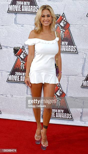 Shauna Sands during MTV Movie Awards 2004 Arrivals at Sony Pictures Studios in Culver City California United States