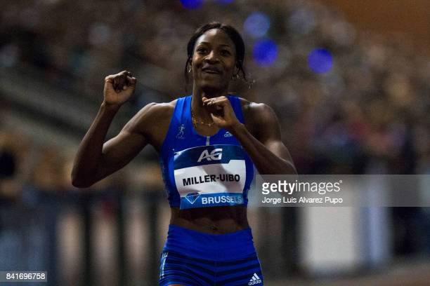 Shaunae MillerUibo of Bahamas competes in the Women's 400 metres during the AG Insurance Memorial Van Damme as part of the IAAF Diamond League 2017...
