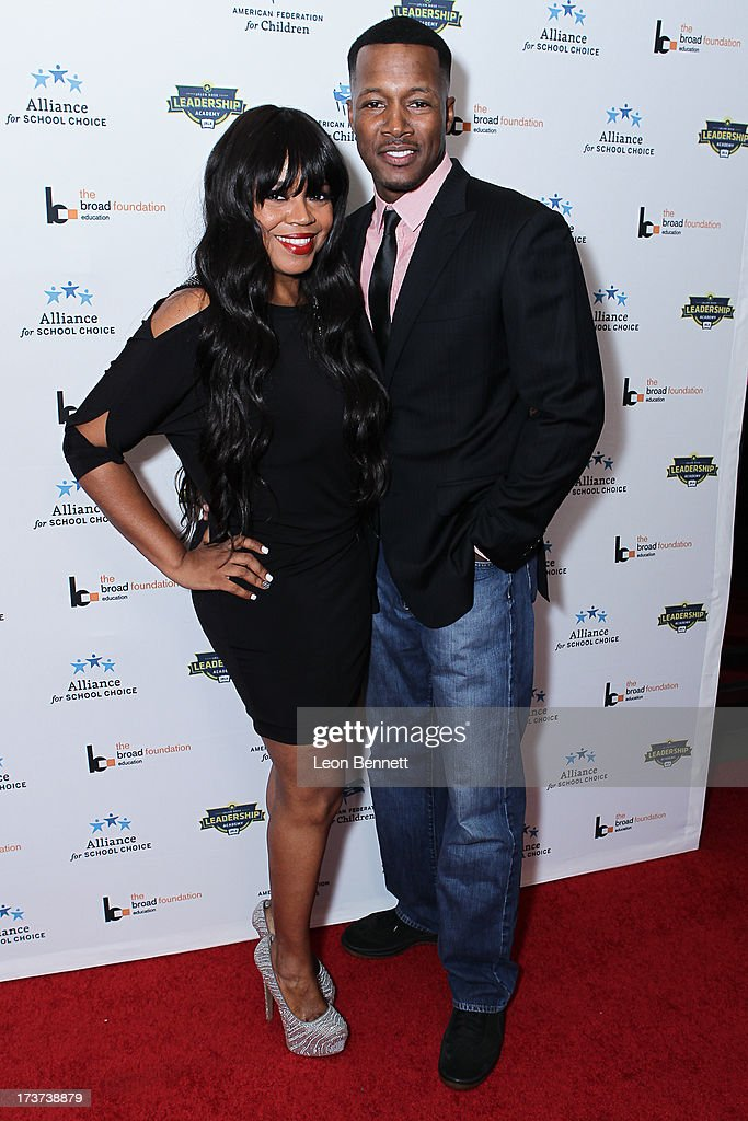 Shaunice Wilson and Flex Alexander attended The Champions For Choice In Education ESPYs Kickoff Cocktail Party at Ritz Carlton on July 16, 2013 in Los Angeles, California.