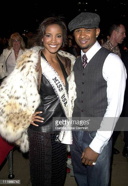 Shauntay Hinton and Usher during Mercedes Benz Fashion Week Spring Collections 2003 Celebrities at Helen Yarmak's Fashion Show at Playboy Penthouse...