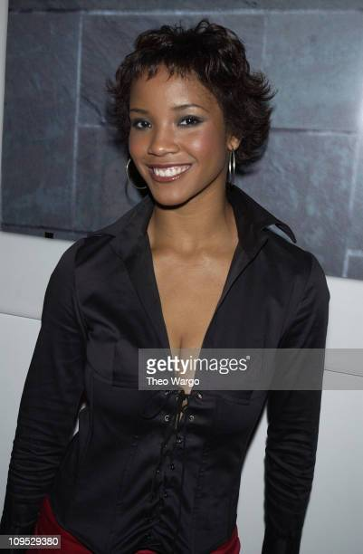Shauntay Hinton during Jordan Two3 Fashion Show in Manhattan at Chelsea Piers in New York City New York United States
