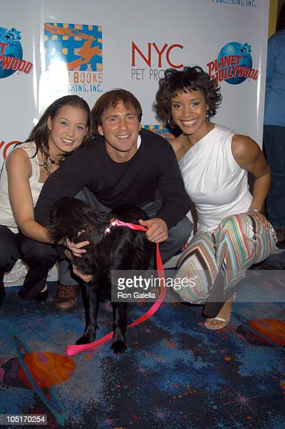 Shauntay Hinton Eric Nies Miss Teen USA during 'NYC Pet Project' Book Release at Planet Hollywood in New York City New York United States