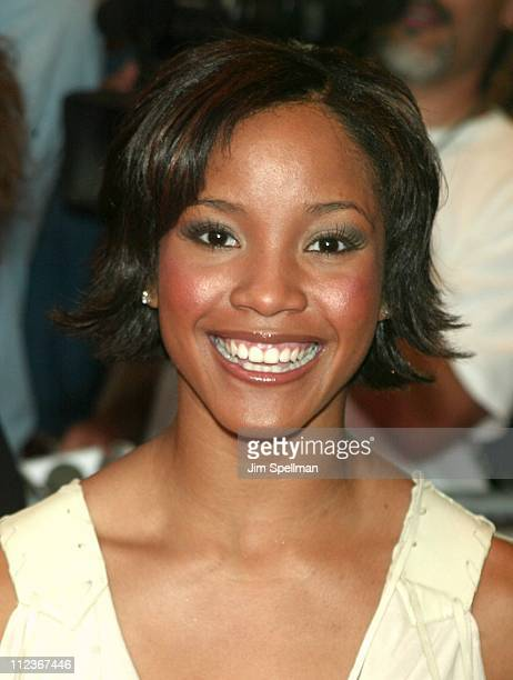 Shauntay Hinton Miss USA 2002 during 'Hairspray' Opening Night on Broadway at Neil Simon Theatre in New York City New York United States