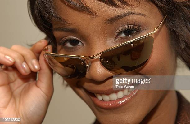 Shauntay Hinton Miss USA 2003 during QVC's Cure by the Shore Accessories Council Market Week Party Hosted by Safilo USA at the Safilo USA Sunglass...
