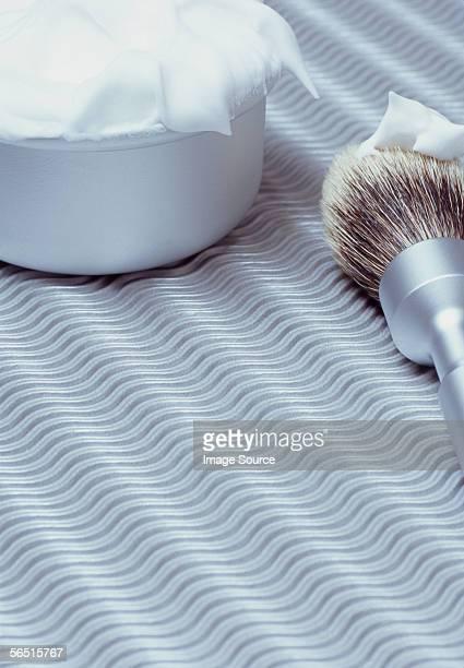 Shaving brush and shaving foam