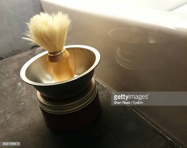 Shaving Brush Next To Sink