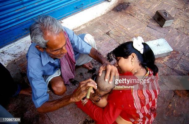 Shaving of the head Puri Bhubaneshwar India
