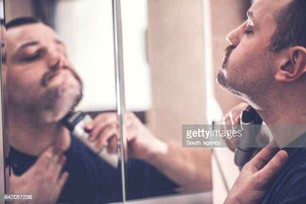 Shaving the beard electric razor