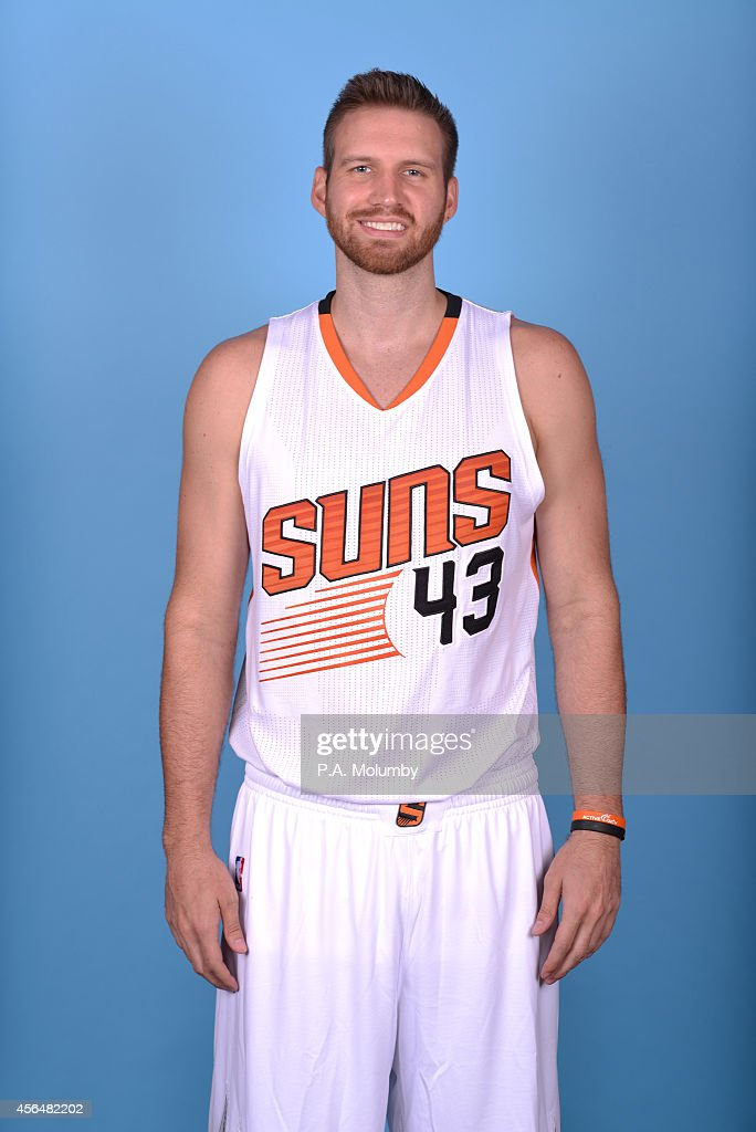 <a gi-track='captionPersonalityLinkClicked' href=/galleries/search?phrase=Shavlik+Randolph&family=editorial&specificpeople=210678 ng-click='$event.stopPropagation()'>Shavlik Randolph</a> #43 of the Phoenix Suns poses for a picture at Phoenix Suns Media Day on September 29, 2014 at U.S. Airways Center in Phoenix, Arizona.