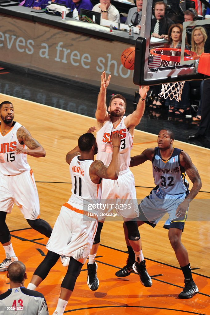 <a gi-track='captionPersonalityLinkClicked' href=/galleries/search?phrase=Shavlik+Randolph&family=editorial&specificpeople=210678 ng-click='$event.stopPropagation()'>Shavlik Randolph</a> #43 of the Phoenix Suns rebounds against the Memphis Grizzlies on April 14, 2014 at U.S. Airways Center in Phoenix, Arizona.