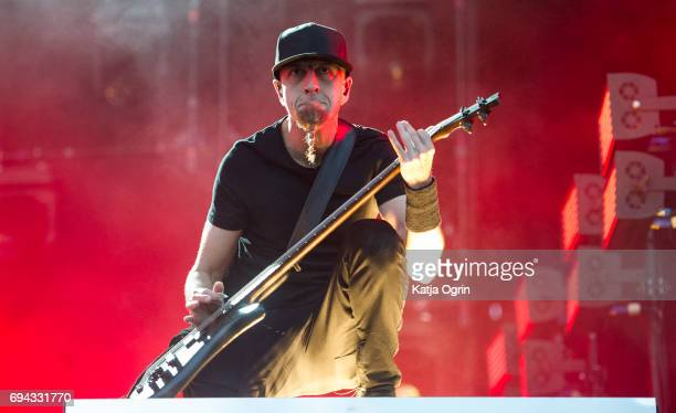 Shavo Odadjian of System of a Down performing live on Day 1 of Download Festival at Donington Park on June 9 2017 in Castle Donington UK