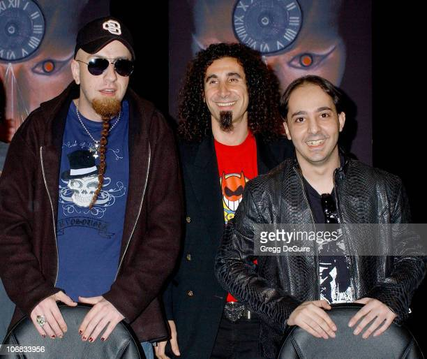 Shavo Odadjian Serj Tankian and Daron Malakian of System Of A Down
