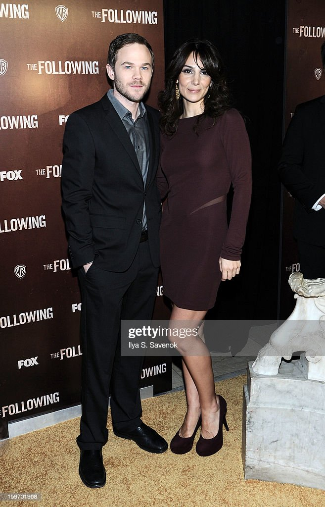 Shawn Ashmore and Annie Parisse attend 'The Following' World Premiere at The New York Public Library on January 18, 2013 in New York City.