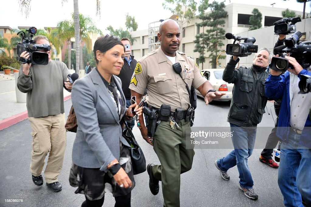 Shawn Chapman Holley lawyer to Lindsay Lohan leaves the airport courthouse following a probation hearing on December 12 2012 in Los Angeles California