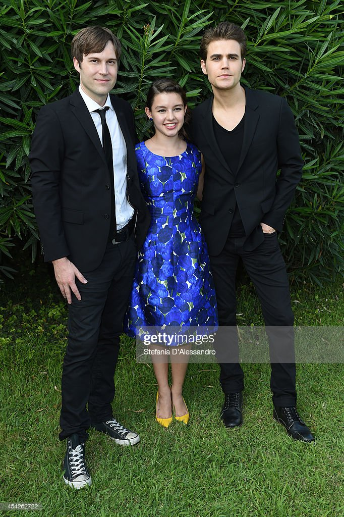 Shawn Christensen, Fatima Ptacek and Paul Wesley attend the 'Before I Disappear' photocall on August 27, 2014 in Venice, Italy.