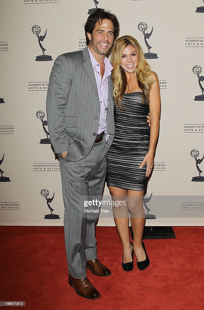 <a gi-track='captionPersonalityLinkClicked' href=/galleries/search?phrase=Shawn+Christian&family=editorial&specificpeople=984129 ng-click='$event.stopPropagation()'>Shawn Christian</a> and Kate Mansi arrive at 39th Daytime Entertainment Emmy Awards - nominees reception held at SLS Hotel on June 14, 2012 in Beverly Hills, California.