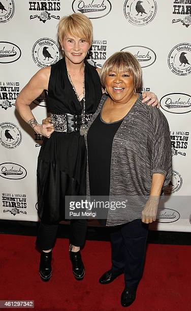 Shawn Colvin and Mavis Staples attend The Life Songs of Emmylou Harris An All Star Concert Celebration at DAR Constitution Hall on January 10 2015 in...