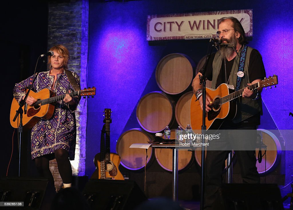 Shawn Colvin and Steve Earle of Covin & Earle preform during Sirius Presents Steve Earle & Shawn Colvin at City Winery on June 10, 2016 in New York City.