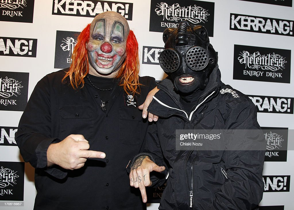 Shawn Crahan and Sid Wilson of Slipknot attend The Kerrang! Awards at the Troxy on June 13, 2013 in London, England.