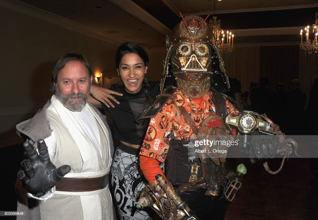 Shawn Crosby, actress Janina Gavankar and Christopher Canole attend the 43rd Annual Saturn Awards - After Party held at The Castaway on June 28, 2017 in Burbank, California.