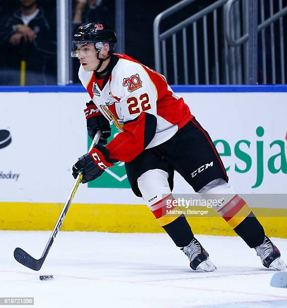Shawn Element of the Baie Comeau Drakkar skates against the Quebec Remparts during their QMJHL hockey game at the Centre Videotron on October 14 2016...