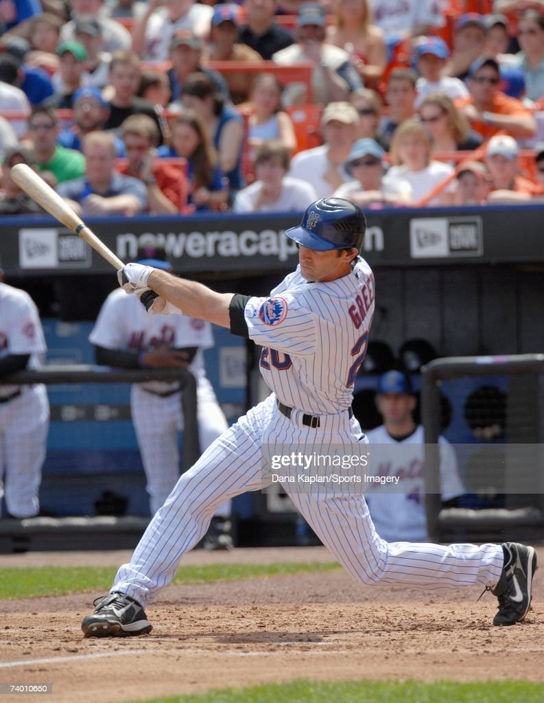 Shawn Green of the New York Mets batting against the Atlanta Braves at Shea Stadium on April 21 2007 in Flushing New York