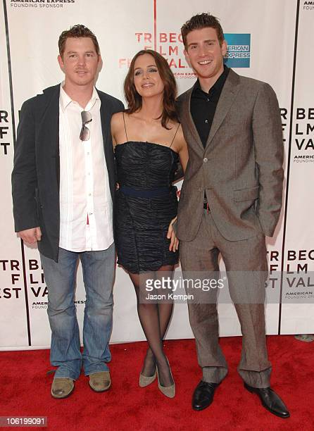 Shawn Hatosy Eliza Dushku and Bryan Greenberg during 6th Annual Tribeca Film Festival 'Noble Son' Arrivals at Clearview Chelsea West in New York City...