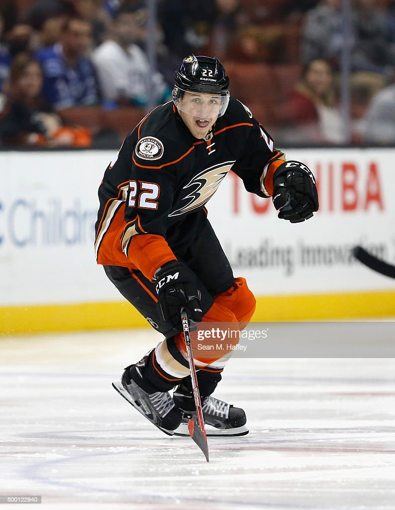 Shawn Horcoff of the Anaheim Ducks skates during a game against the Vancouver Canucks at Honda Center on November 30 2015 in Anaheim California