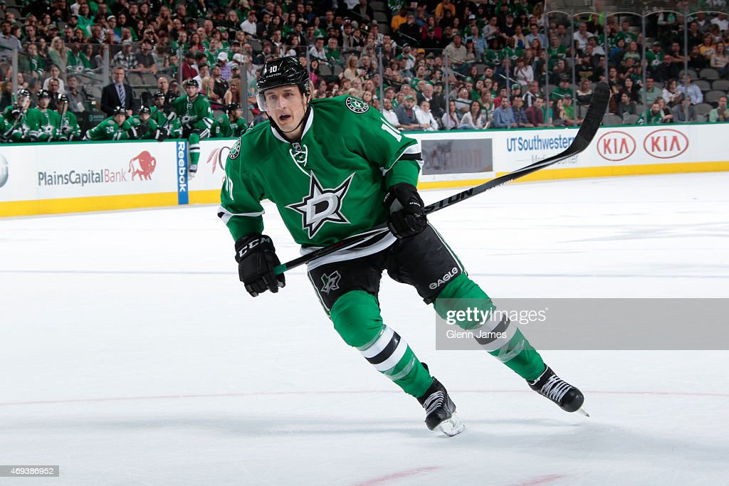 Shawn Horcoff of the Dallas Stars skates against the Nashville Predators at the American Airlines Center on April 11 2015 in Dallas Texas