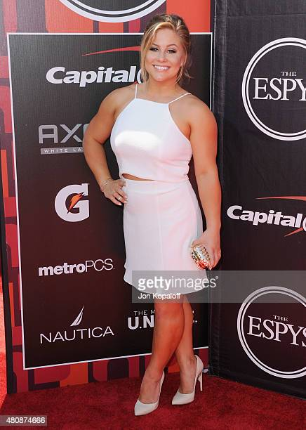Shawn Johnson arrives at The 2015 ESPYS at Microsoft Theater on July 15 2015 in Los Angeles California
