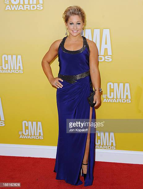 Shawn Johnson attends the 46th annual CMA Awards at the Bridgestone Arena on November 1 2012 in Nashville Tennessee