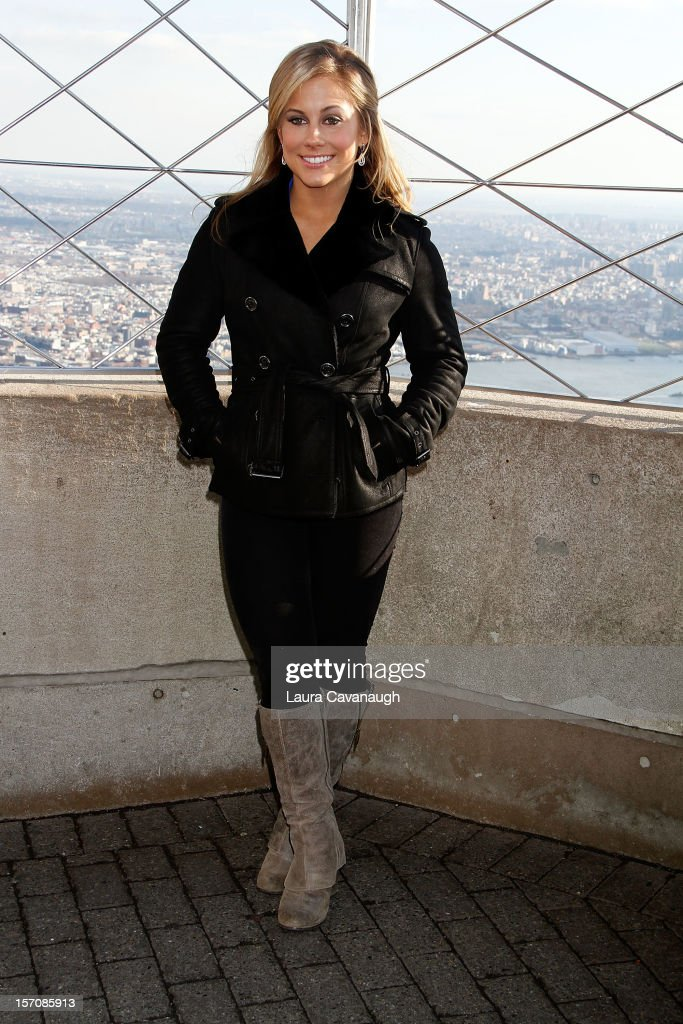 Shawn Johnson visits The Empire State Building on November 28 2012 in New York City
