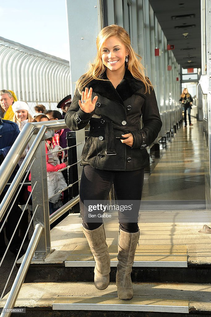 Shawn Johnson visits The Empire State Building on November 28, 2012 in New York City.
