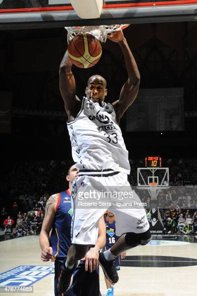 Shawn King of Granarolo in action during the LegaBasket Serie A1 match between Granarolo Bologna and Acea Roma at Unipol Arena on March 2 2014 in...