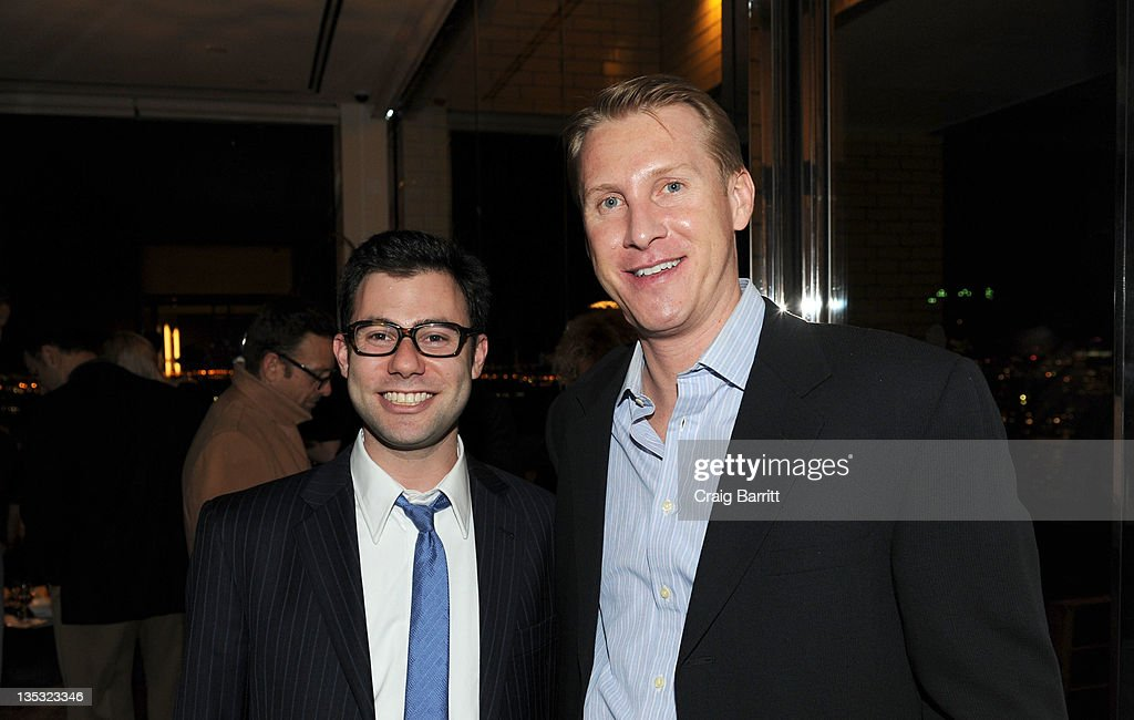 Shawn Leventhal (R) and Hoyt David Morgan attend the Worldview Entertainment 2011 Holiday Party at William Beaver House on December 8, 2011 in New York City.