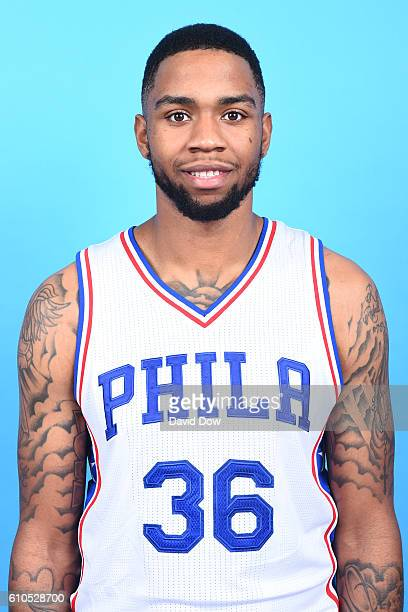 Shawn Long of the Philadelphia 76ers poses for a head shot during media day at the Philadelphia 76ers Training Complex on September 262016 in Camden...