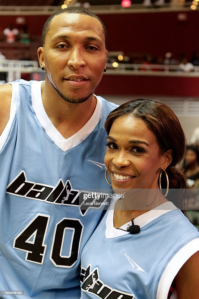 <a gi-track='captionPersonalityLinkClicked' href=/galleries/search?phrase=Shawn+Marion&family=editorial&specificpeople=201566 ng-click='$event.stopPropagation()'>Shawn Marion</a> and Michelle Williams attends the Ball Up 'Search For the Next' Tour Celebrity Game at Megafest on August 31, 2013 in Dallas, United States.