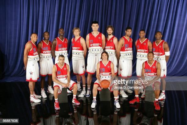 Shawn Marion Elton Brand Kevin Garnett Dirk Nowitzki Yao Ming Pau Gasol Tim Duncan Tracy McGrady Kobe Bryaqnt Tony Parker Steve Nash and Ray Allen of...